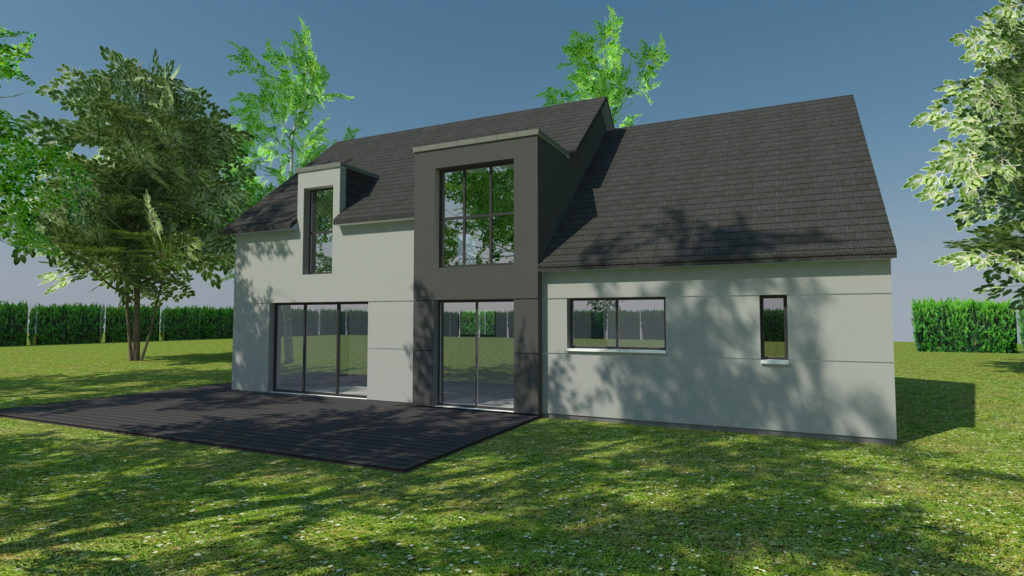 Construction de maison contemporaine à Mont-Saint-Aignan (avant projet)