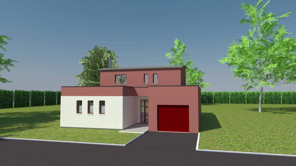 Construction de maison cubique à Isneauville (avant projet)