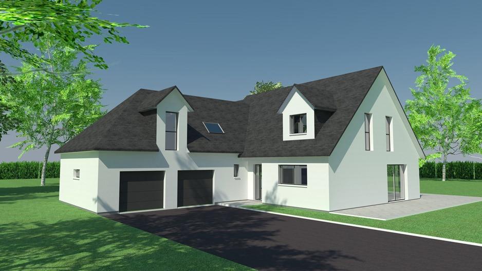 Construction de maison double-garage à Bois-Guillaume (avant projet)