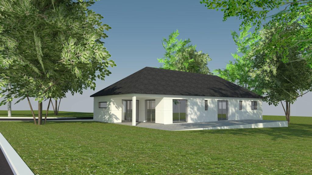 Construction maison plain-pied Amfreville-la-mi-Voie (avant projet)