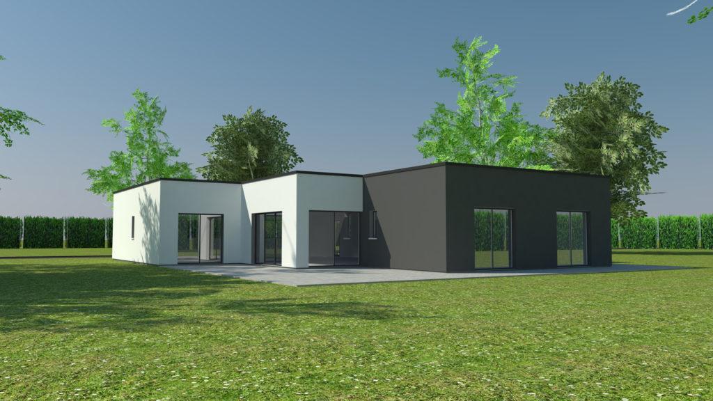 Construction maison plain-pied cubique Isneauville (avant projet)