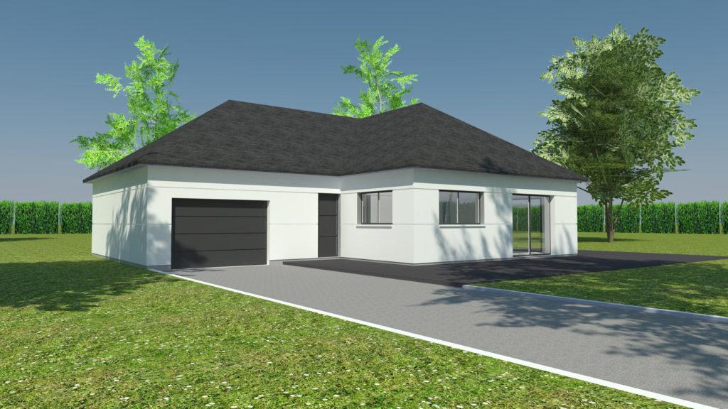 Construction maison plain-pied Franqueville-Saint-Pierre (avant projet)