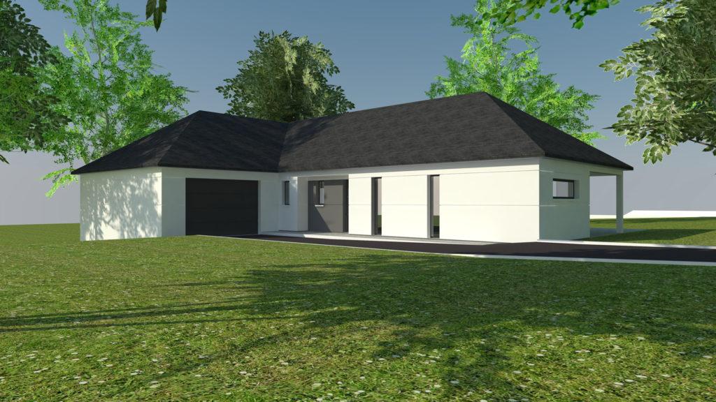 Construction maison plain-pied à Rouen (avant projet)