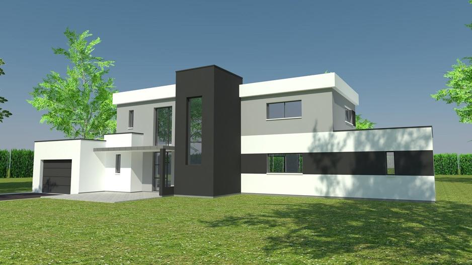 Construction maison prestige cubique Belbeuf (avant projet)
