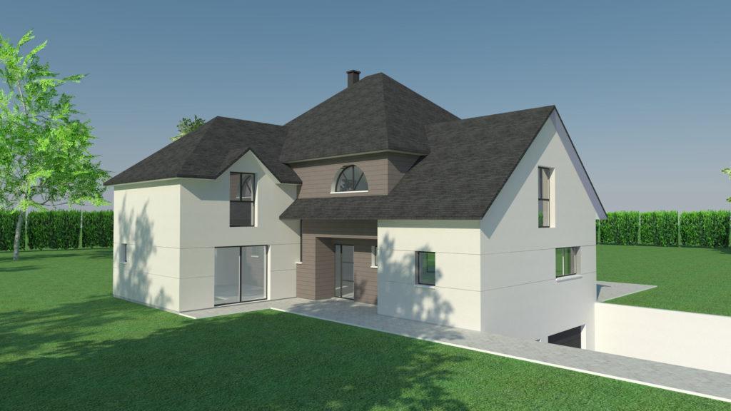 construction maison contemporaine Isneauville (Architecte M.I. CAD)