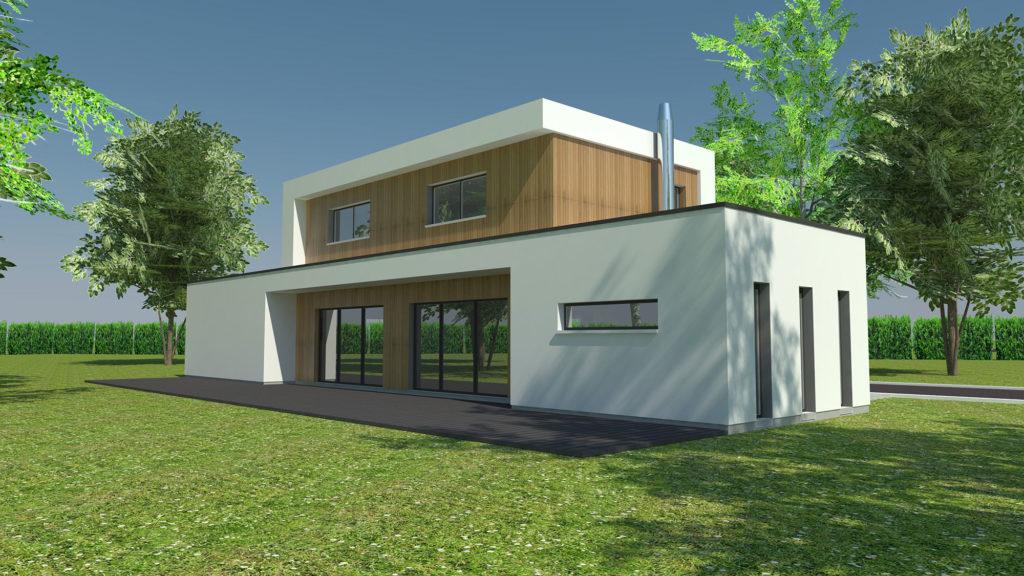 Construction maison moderne à Franqueville-Saint-Pierre (Architecte M.I. CAD)