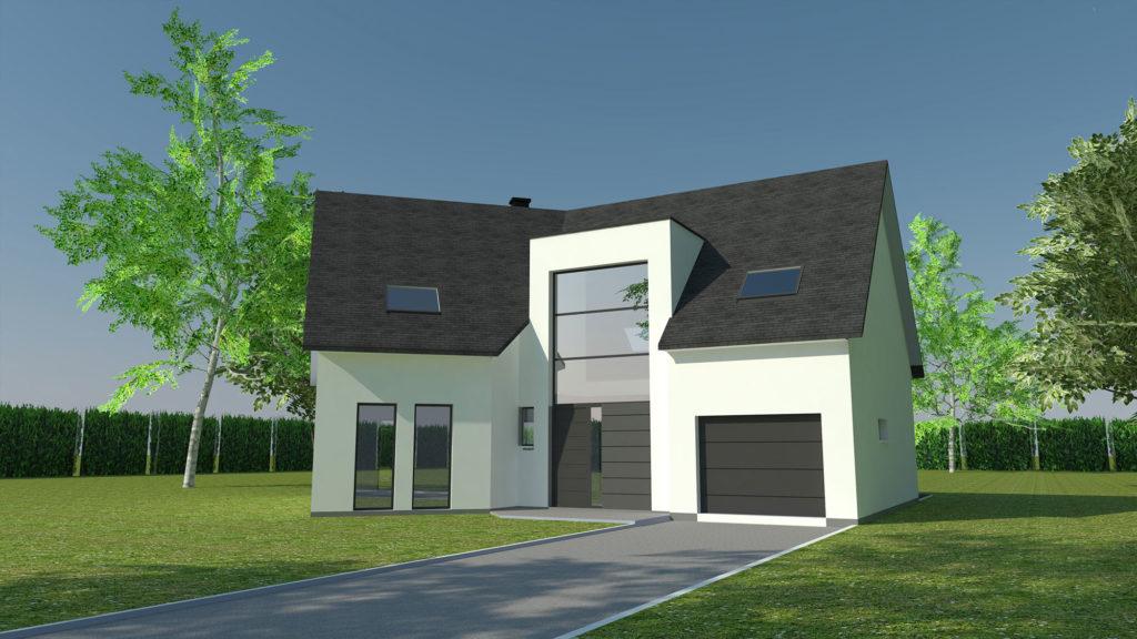 Construction maison moderne à Isneauville