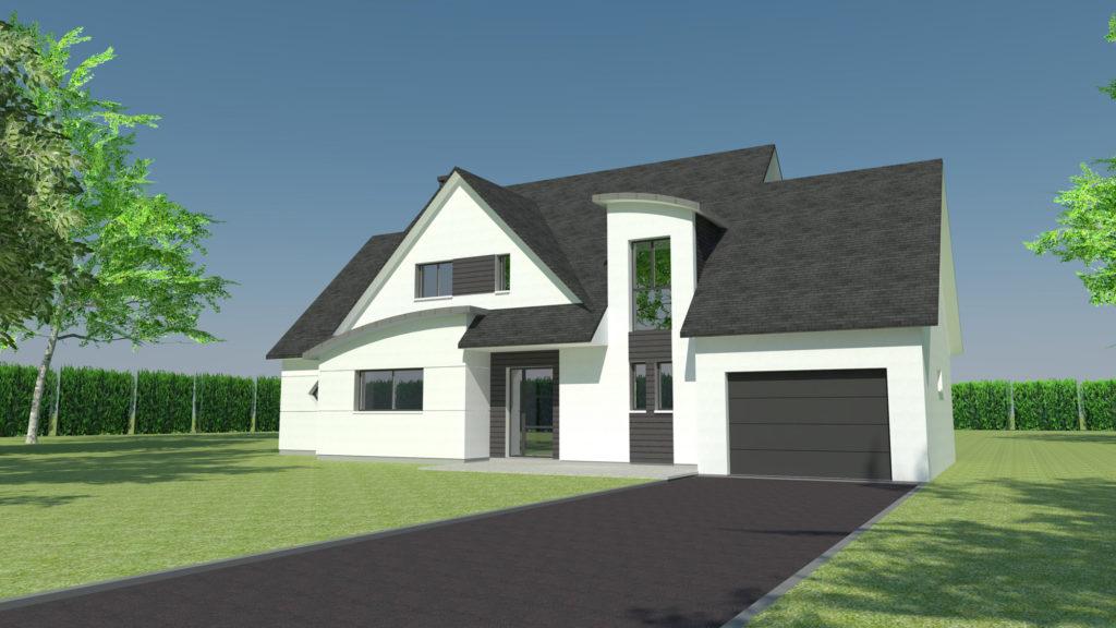 Construction maison prestige à Bois-Guillaume (Architecte M.I. CAD)